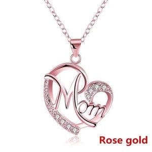 Love Mom Necklace Rose Gold NEW!